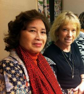 Murti Bunanta och Ingrid Källström från Ibbys styrelse innan seminariet på SBI