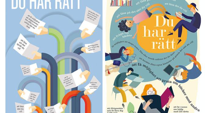 Barns rätt till läsning – affischer för nedladdning
